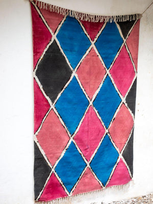 Carnival Hand Painted Cotton Dhurrie Rug