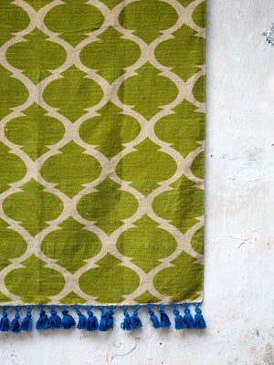 Rainforest Printed Handloom Cotton Dhurrie Rug