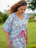 Rimjhim Printed Cotton Kaftan - Pinklay