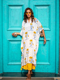 Tourmaline Modal Silk Kaftan Dress - Pinklay