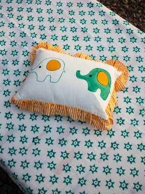 Appu Organic Cotton Infant Pillow Kids Fitted Sheet