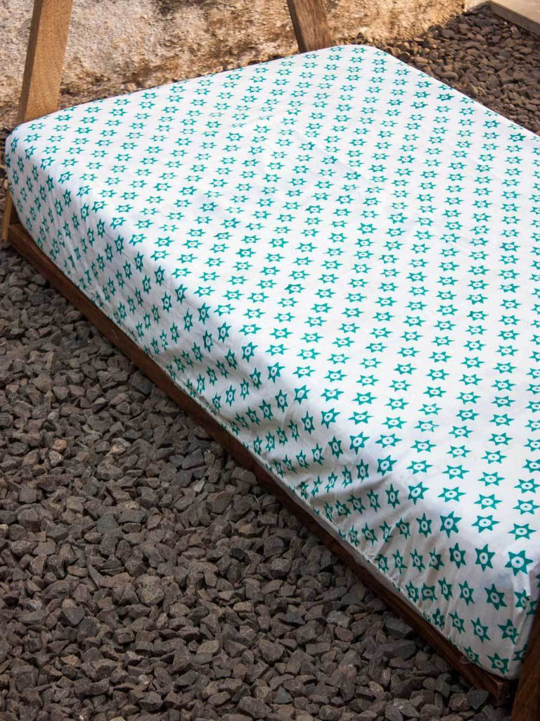 Appu Star Cotton Cot/Crib Fitted Sheet Kids Fitted Sheet