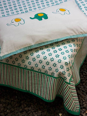 Appu Cotton Single Bedsheet Set Kids Single Bed Sheets