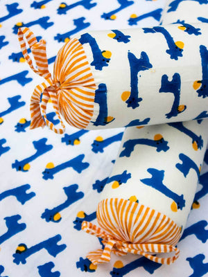 Blue Giraffe Organic Cotton Infant Bolster - Set of 2 Kids Fitted Sheet