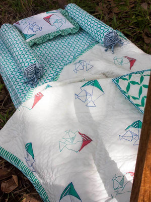 Set of 5 - Kite GOTS Certified Organic Cotton Cot Bedding Set