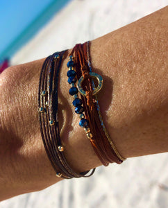 Featured in yellow gold in rust, with Pleiades in brown