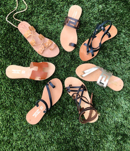 Original Handmade Ancient Greek Sandals - Greek key