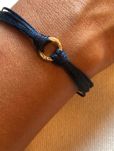 14k yellow gold, featured in navy