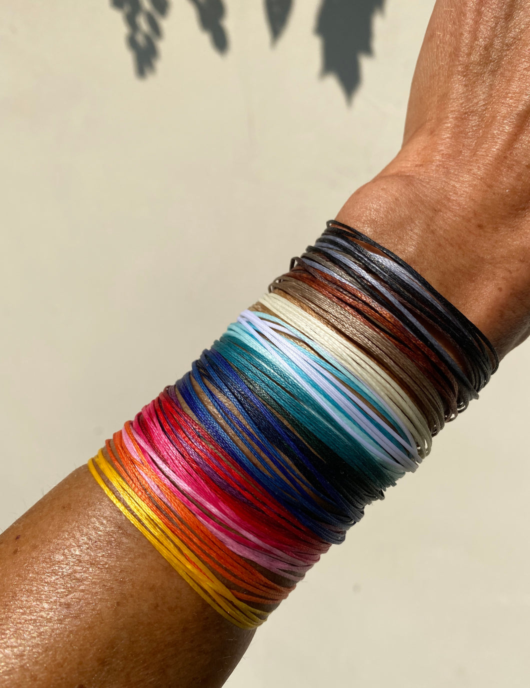 All the colors featured here; choose one color for each bracelet or choose