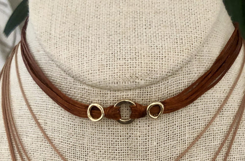 Thea: 14k Gold, Greek Cord Necklace