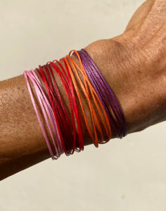 Multiple bracelets each in their own color