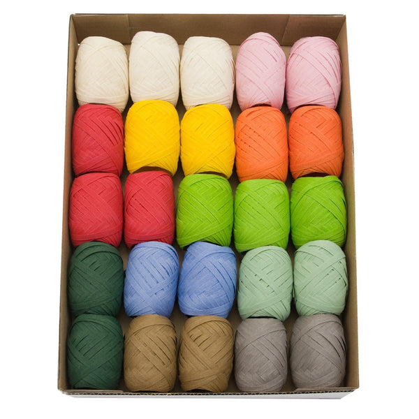 Nature Pack Cotton Ribbon Egg Assorted (GOG) 5mm x 10m