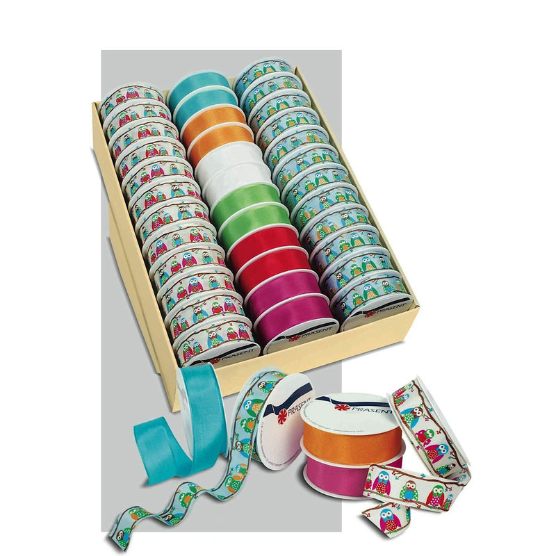 RAINBOW Assorted Ribbon Rolls