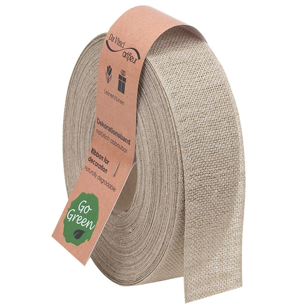 Nature Basic Linen Ribbon Spool (GOG) 40mm x 20m