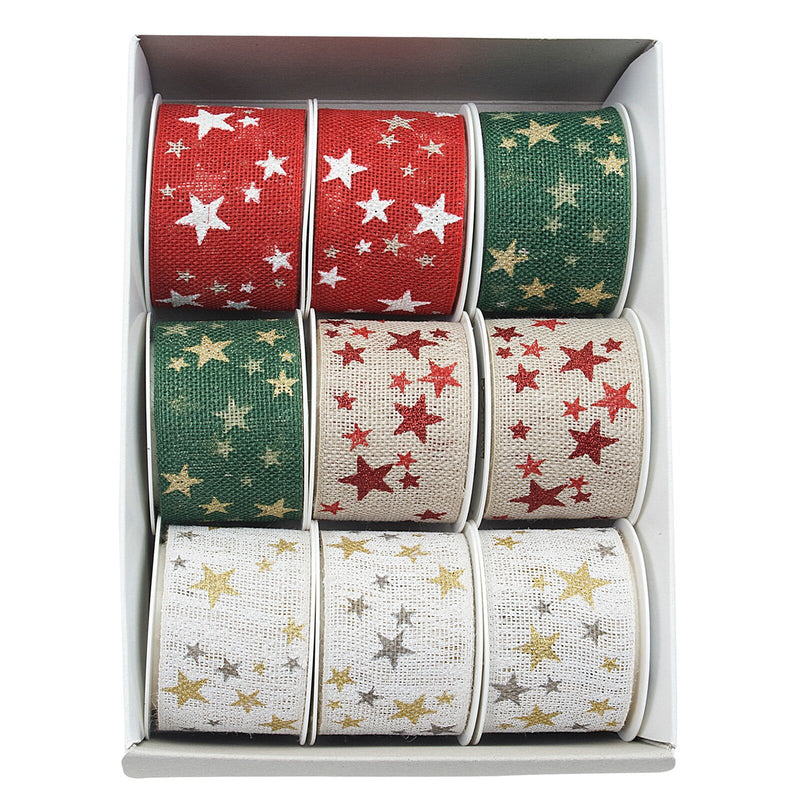 Nature Look Winter Heaven Ribbon Spool Assorted (GOG) 40mm x 2m