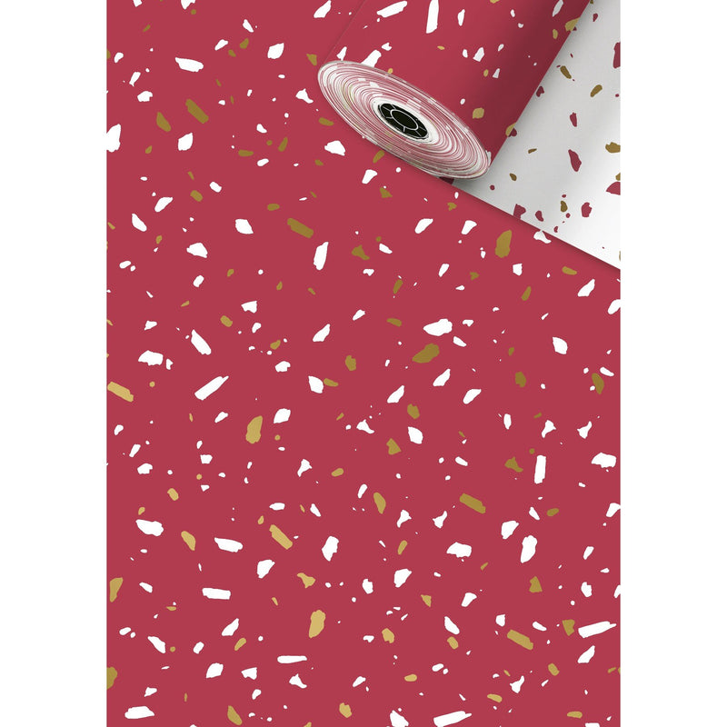 Counter Roll 250m Terrazzo Red