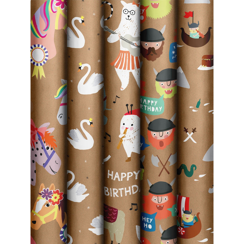 Roll Wrap Assortment 0.7x3m Nature Kids