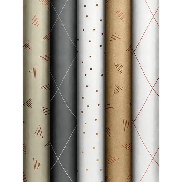 Roll Wrap Assortment 0.7x1.5m Just Patterns (Join Graphic)