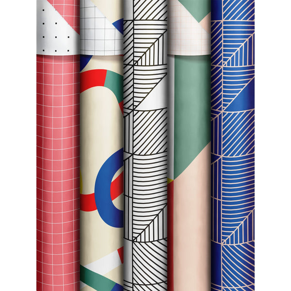 Roll Wrap Assortment 0.7x2m Geometric Twist (Function)