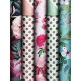 Roll Wrap Assortment 0.7x2m Flower Dots