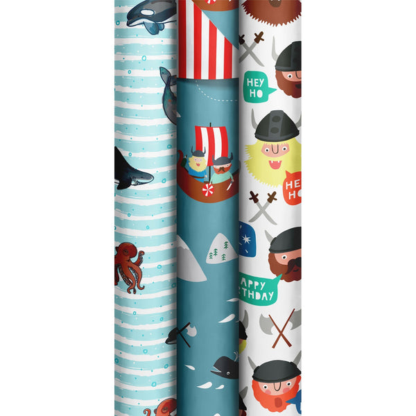 Roll Wrap Assortment 0.7x2m Wild Boys (Ragnar) (Happy Ocean)