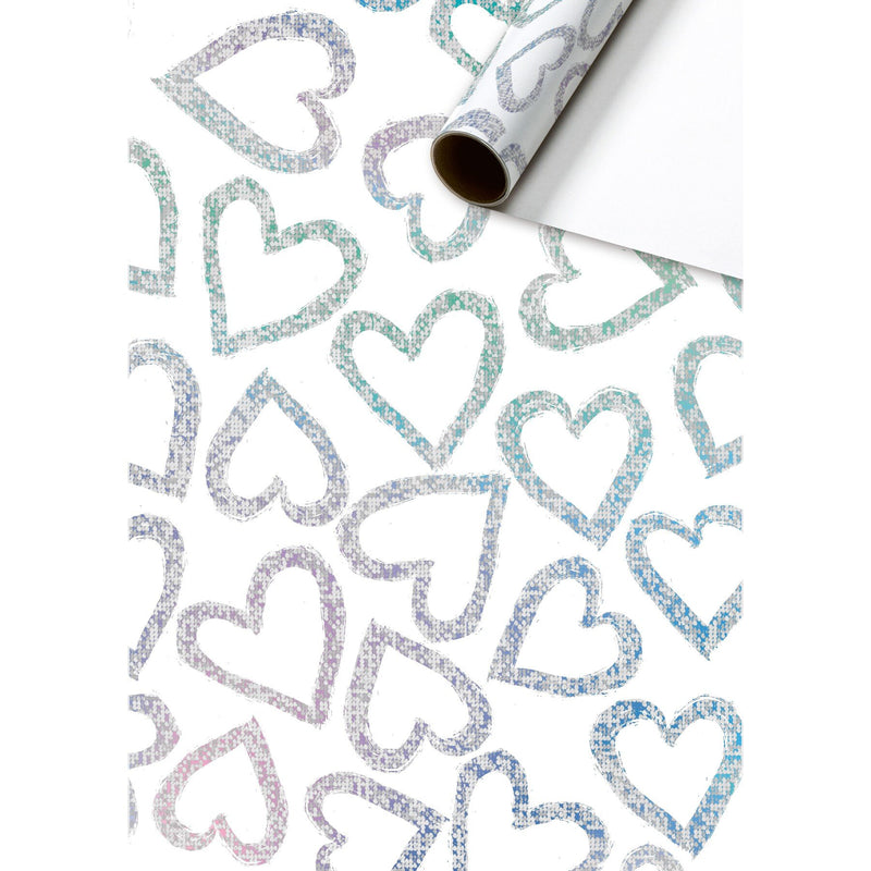 Roll Wrap Assortment 0.7x2m Glowing Hearts