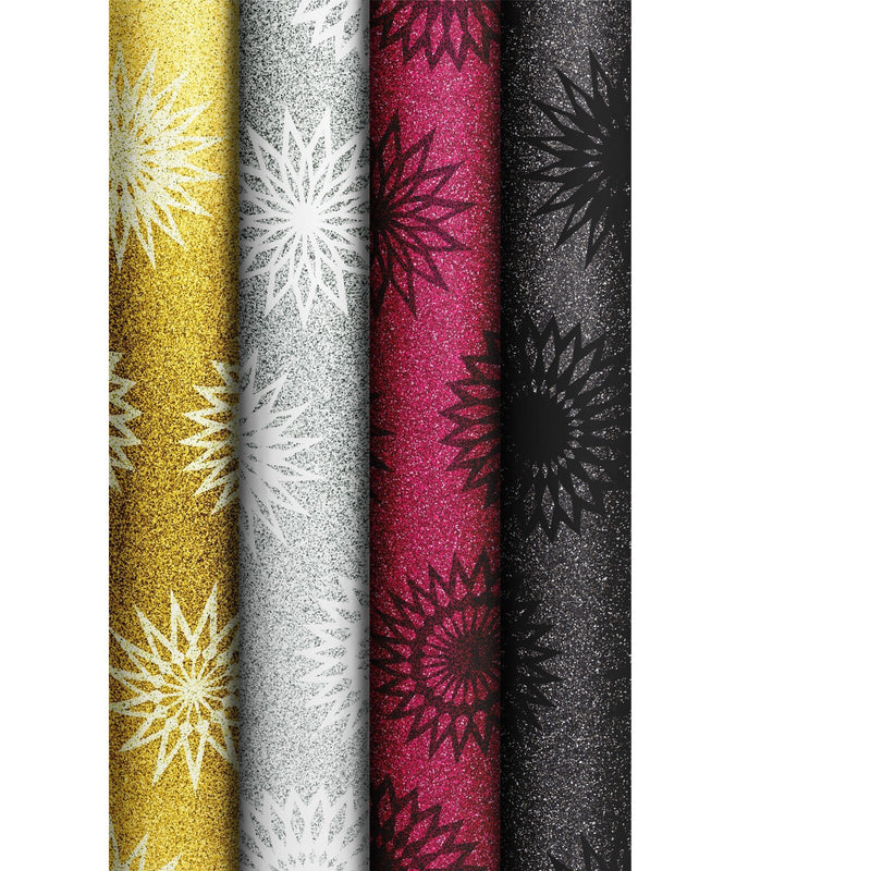 Roll Wrap Assortment 0.7x1.5m Sparkling Stars