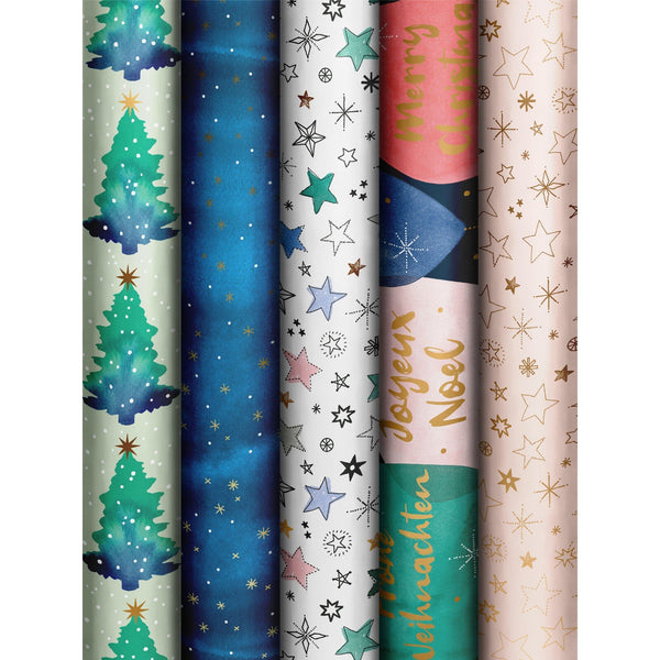 Roll Wrap Assortment 0.7x2m Mindful Christmas (Ciela)