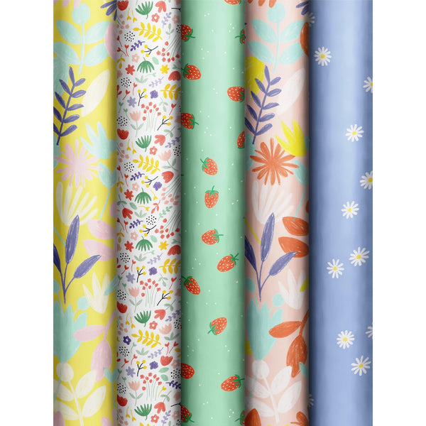 Roll Wrap Assortment 0.7x2m Fruity Spring (Margareta)