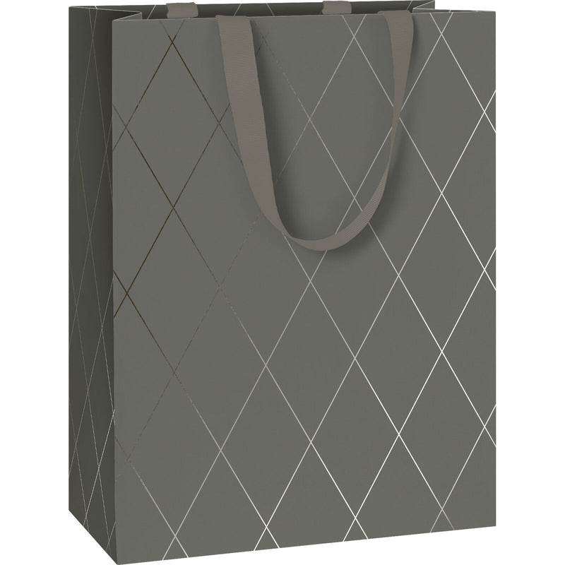 Gift Bags 25x13x33cm Join Graphic Grey
