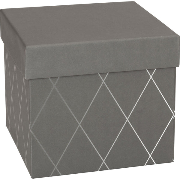 Gift Boxes 13.5x13.5x12.5cm Join Graphic Grey Cube