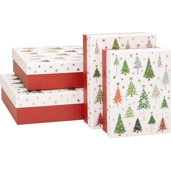 Gift Boxes 4 Part Set Ilan Trees