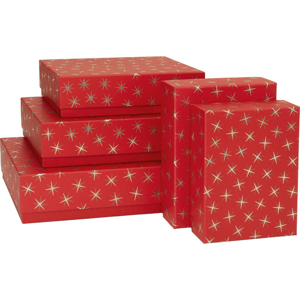 Gift Boxes 5 Part Set Adaria Red