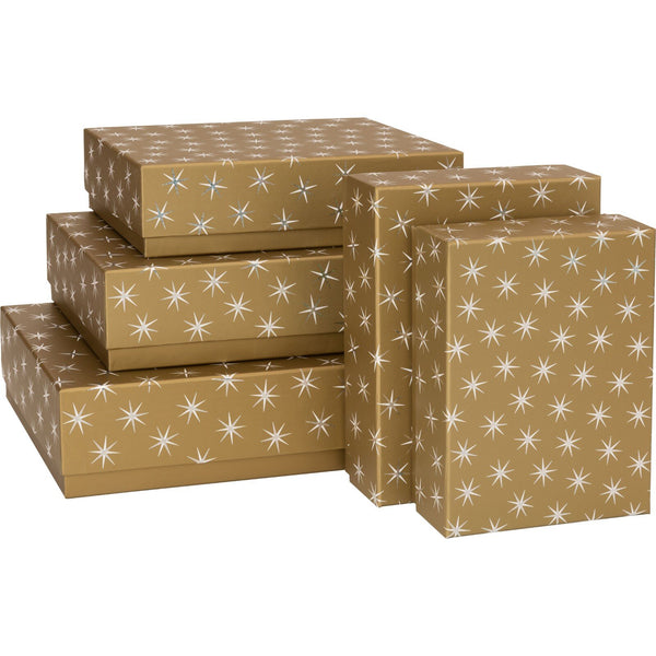 Gift Boxes 5 Part Set Adaria Gold