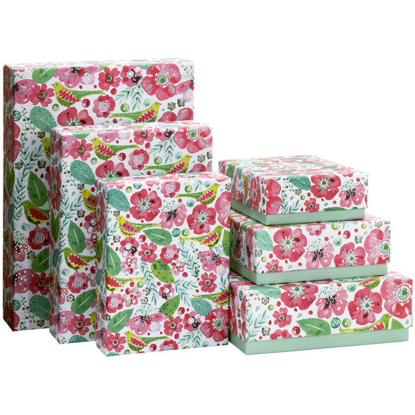 Gift Boxes 6 Part Set Fania Flowers