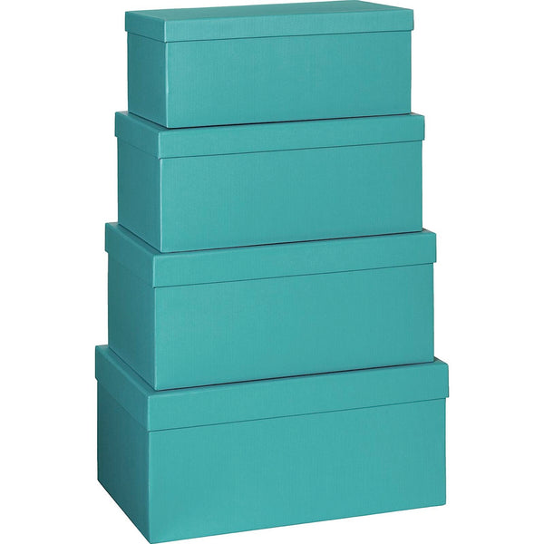 Plain Colour Gift Boxes 4 Part Set