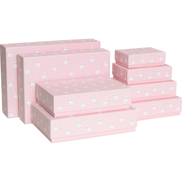 Gift Boxes 8 Part Set Paul & Alda Pink