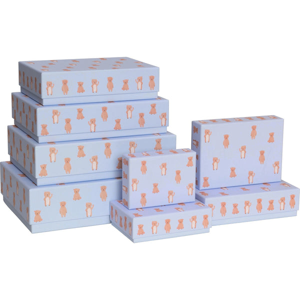 Gift Boxes 8 Part Set Paul & Alda Light Blue