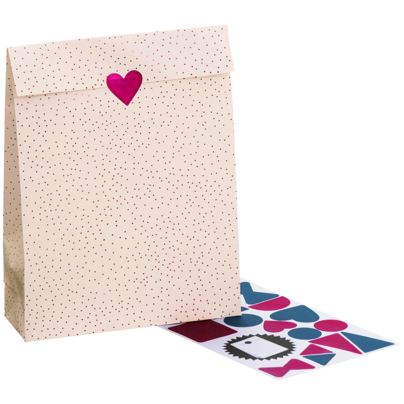 Cross Bottom Gift Bags 13x4.5x20cm Poppy (Patterns)