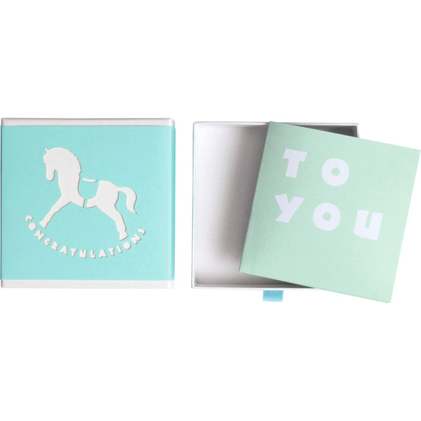 Message Gift Boxes 10.5x10.5cm Piedino Blue