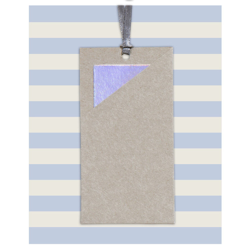 Gift Tag Set 10.5x13cm Calderon Blue (Patterns)