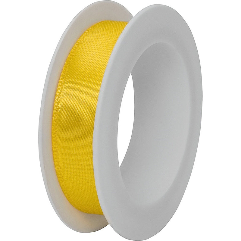 Double faced satin ribbon spool 15mm x 3m Yellow