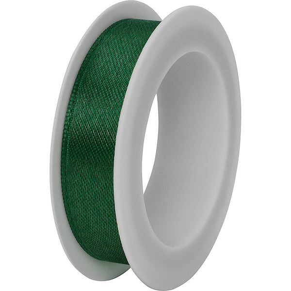 Double faced satin ribbon spool 15mm x 3m Dark Green