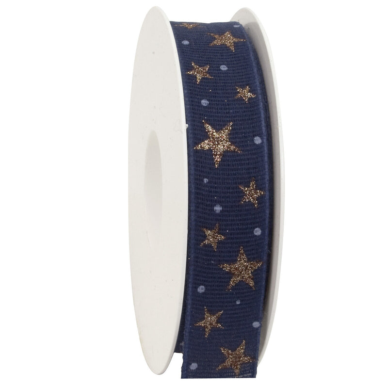 Stars Cotton Ribbon Spool (GOG) 25mm x 20m