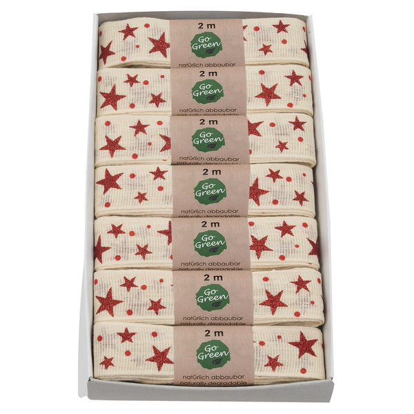Stars Cotton Ribbon Hanks (GOG) 25mm x 2m