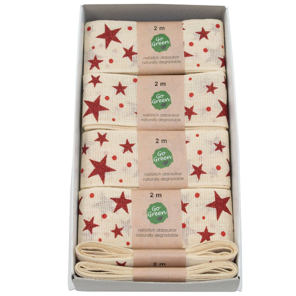 Stars Cotton Ribbon Hanks (GOG) 40mm x 2m