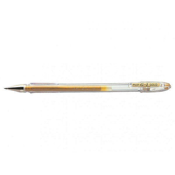 Pilot G-107 Gel Rollerball Medium Line 2 Colour (Gold/Silver) Display