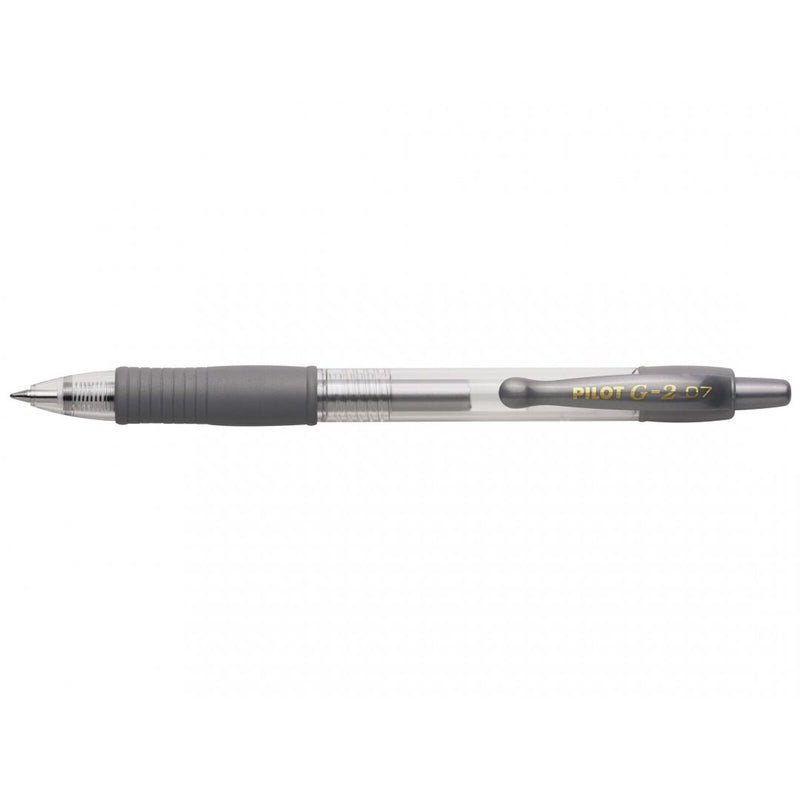 Pilot G-207 Metallic Retractable Gel Rollerball Medium Line (Gold/Silver) Display