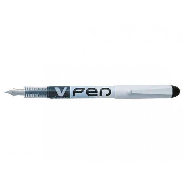 Pilot V Pen Fountain Pen White Barrel Display