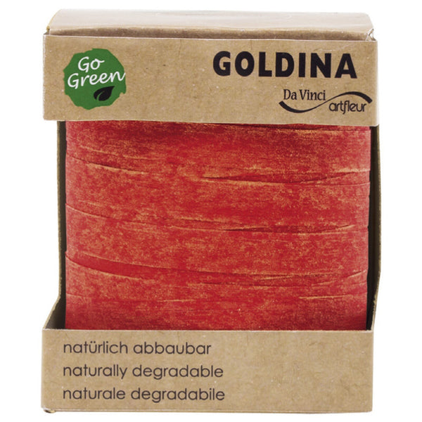 Nature Pack Glimmer Cotton Ribbon Spool (GOG) 10mm x 100m